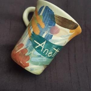 """Pálinkás pohárka névvel, Otthon & Lakás, Konyhafelszerelés, Pohár, Kerámia, 1995- től dolgozom keramikusként, az egyik legkeresettebb """"termékem"""" a névre szóló pálinkás pohárka ..., Meska"""