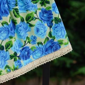 Kék rózsás lányka szoknya 80-as - ruha & divat - babaruha & gyerekruha - szoknya - Meska.hu