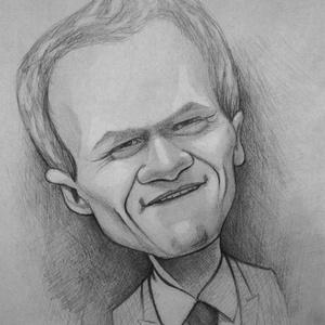 Barney Stinson, Karikatúra, Portré & Karikatúra, Művészet, Fotó, grafika, rajz, illusztráció, FER-GE-TE-GES!\nNeil Patrick Harris Barney karakterének köszönheti hírnevét.\nEz a termék A/4-es méret..., Meska