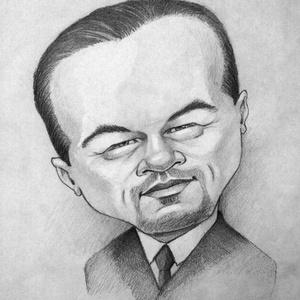 Leó, az Oscarra való!, Karikatúra, Portré & Karikatúra, Művészet, Fotó, grafika, rajz, illusztráció, Sokan izgultak Leonardo DiCaprioért, hogy megkapja végre a hőn áhított Oscar díjat.\nEgy karikatúráva..., Meska