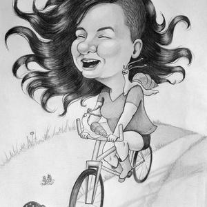 Karikatúra fotóról, Karikatúra, Portré & Karikatúra, Művészet, Fotó, grafika, rajz, illusztráció, Lepj meg valakit egy személyre szóló karikatúrával vagy portréval. \nAdhatod a főnöködnek, a szerelme..., Meska