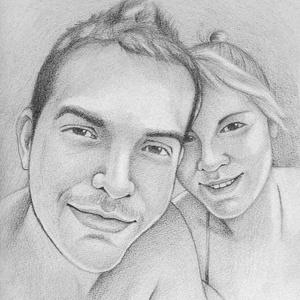 Portré fotóról, Portré, Portré & Karikatúra, Művészet, Fotó, grafika, rajz, illusztráció, Lepd meg párodat egy személyre szóló karikatúrával vagy portréval.\n\nAz ár függ a mérettől, személyek..., Meska