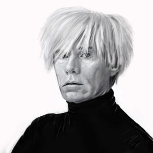 Digitális Andy Warhol, Képzőművészet, Otthon & lakás, Illusztráció, Festészet, Fotó, grafika, rajz, illusztráció, Digitális festmény nem kizárólag ajándékba.\nCsak a képzelet szab határt, fekete fehérben és  színesb..., Meska