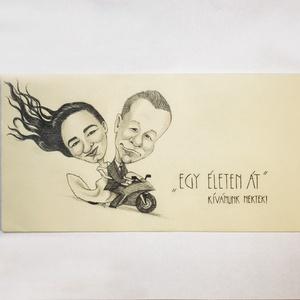 Nászajándék karikatúra, Otthon & lakás, Képzőművészet, Grafika, Rajz, Lepj meg valakit egy személyre szóló karikatúrával vagy portréval. Adhatod a főnöködnek, a szerelmed..., Meska