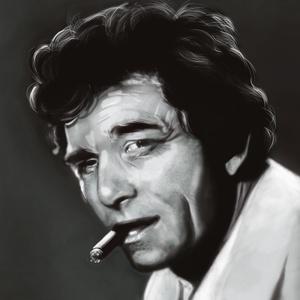 Columbo, Képzőművészet, Otthon & lakás, Festmény, Festmény vegyes technika, Festészet, Digitális festmény nem kizárólag ajándékba.\nCsak a képzelet szab határt, fekete fehérben és színesbe..., Meska