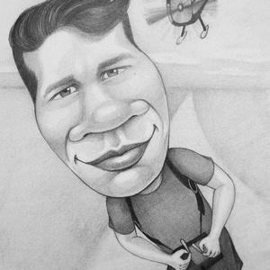 Karikatúra, portré, Karikatúra, Portré & Karikatúra, Művészet, Fotó, grafika, rajz, illusztráció, Karikatúra vagy portré fotóról, pár nap alatt.\nA/5-ös mérettől A/2-esig, egy vagy több személyről, k..., Meska