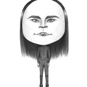 Dani Filth, Képzőművészet, Otthon & lakás, Grafika, Rajz, Fotó, grafika, rajz, illusztráció, Portré vagy karikatúra barátról, kutyusról, hírességről, főnökről, nagyiról.\nEgyedi, személyes ajánd..., Meska