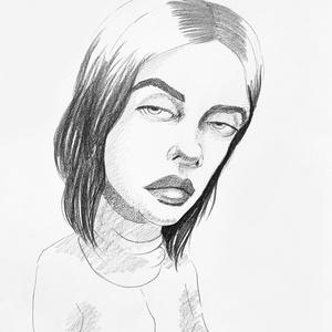 Karikatúra fotóról - Billie, Otthon & lakás, Képzőművészet, Grafika, Rajz, Fotó, grafika, rajz, illusztráció, Karikatúra vagy portré fotóról, pár nap alatt.\nA/5-ös mérettől A/2-esig, egy vagy több személyről, k..., Meska