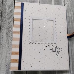 Echo Park-Hello Baby Boy - Babás fiús fotóalbum, Egyéb, Csináld magad leírások, Papírművészet, Ez a kisfiúknak szánt fotóalbum az Echo Park gyártó Hello Baby Boy nevű papírral készült. Az album m..., Meska