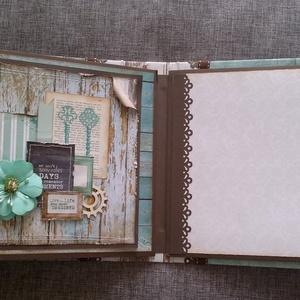 RENDELHETŐ/ Vendégkönyv  (scrapbook album), Album & Fotóalbum, Papír írószer, Otthon & Lakás, Papírművészet, Ezt a fotóalbumot kérésre készítettem, vendégkönyv lesz egy esküvőn. Az album mérete 17 x 17 cm. Kb...., Meska