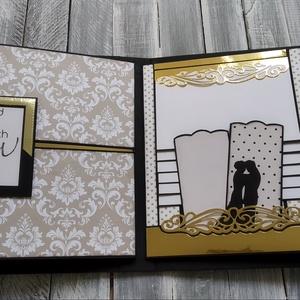 RENDELHETŐ hasonló - ESKÜVŐRE 1.sz. minta (Echo Park-Wedding Bliss), Vendégkönyv, Emlék & Ajándék, Esküvő, Papírművészet, Ezt a scrapbook albumot esküvőre készítettem. De hasonló jó ajándék lehet születésnapra, névnapra, b..., Meska