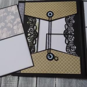 RENDELHETŐ hasonló - ROMANTIKUS Scrapbook fotó/emlékalbum akár ESKÜVŐRE minta, Vendégkönyv, Emlék & Ajándék, Esküvő, Papírművészet, Ezt a scrapbook fényképalbumot Valentin napra készítettem, de jó ajándék lehet akár esküvőre is, szü..., Meska