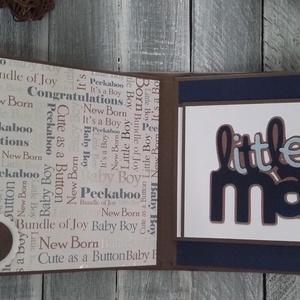 RENDELHETŐ hasonló - Babás fiús fotóalbum 1.sz. MINTA, Album & Fotóalbum, Papír írószer, Otthon & Lakás, Papírművészet, Egyszerű, de annál nagyszerűbb fotóalbum, amit egy kisfiúk babaváróra bulijára készítettem. De jó aj..., Meska