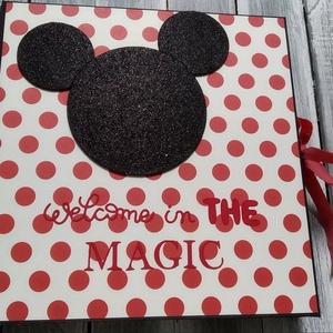 """Mickey ALBUM 1.sz. MINTA (RENDELHETŐ hasonló), Album & Fotóalbum, Papír írószer, Otthon & Lakás, Papírművészet, Ezt a fényképalbumot egy \""""nagylánynak\"""" készítettem születésnapra, de jó ajándék lehet bárkinek, aki ..., Meska"""