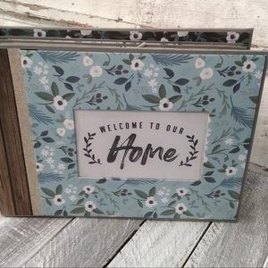 KÉSZLETEN - Welcome to our HOME (Üdv az otthonunkban) - Scrapbook album/ fotóalbum, Otthon & Lakás, Papír írószer, Album & Fotóalbum, Papírművészet, Ezt a scrapbook fényképalbumot a mindennapok ihlették. Jó ajándék lehet akár esküvőre, lakásavatóra ..., Meska