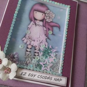 """RENDELHETŐ - Csajos album világos 2.sz. MINTA - Scrapbook Fotó/emlékalbum, Otthon & Lakás, Papír írószer, Album & Fotóalbum, Papírművészet, Ez egy \""""kis hölgynek\"""" szánt fotóalbum, kellemes világos lila színekkel, ami jó ajándék lehet egy aká..., Meska"""