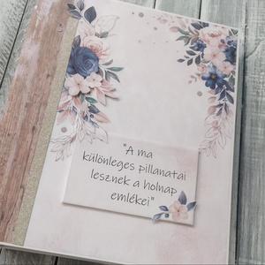 RENDELHETŐ hasonló -Szuper nagy fotó/emlékalbum ESKÜVŐRE 2. minta, Otthon & Lakás, Papír írószer, Album & Fotóalbum, Papírművészet, Ezt a scrapbook fotó/emlékalbumot esküvőre készítettem, a gyönyörű pasztell rózsaszín és kék színek ..., Meska