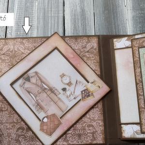 Csajos csillogás - Scrapbook fotó/elmékalbum , Otthon & Lakás, Papír írószer, Album & Fotóalbum, Papírművészet, Ez az album államvizsga alkalmára készült Mintay gyártó Dear Diary papírjaival készült. Amit megspék..., Meska