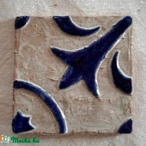 """Kézzel készült archaikus csempe - \""""Provence\"""", Otthon & lakás, Lakberendezés, Konyhafelszerelés, Képzőművészet, Dekoráció, Kerámia, Teljes egészében egyedileg kézzel készített csempék. Nincs két egyforma darab.   A csempék domború ..., Meska"""