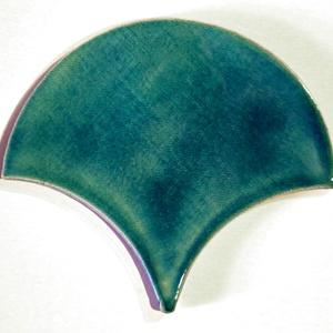 csepp formájú csempe - akvamarin, Csempe, Dekoráció, Otthon & Lakás, Kerámia, Egyesével, kézzel készült ~13 cm x 11,5 cm-es (magasság ~7mm) csempék akvamarin (türkiz) színben. \n\n..., Meska