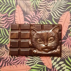 Macskás Csoki, Gyerek & játék, Kulinária (élelmiszer), Egyéb, Furcsaságok, Édességek, Élelmiszer előállítás, Macskafejet ábrázoló táblás csokoládé.\n\nKedves gyereknapi, szülinapi, névnapi, ajándék lehet barátai..., Meska