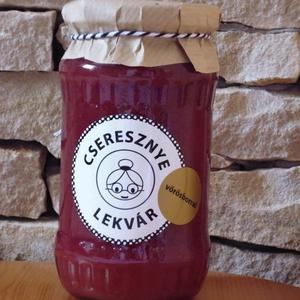 Cseresznye lekvár - vörösborral 370 ml, Lekvár, Kulinária (Ízporta), Tartósítószer mentes, Adalékanyag mentes, Édes, ropogós cseresznyéből készült lekvár, amit pinot noir bor hozzáadásával bolondítottunk meg, ho..., Meska