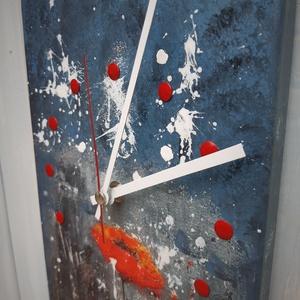 Fali óra, Otthon & Lakás, Dekoráció, Falióra & óra, Decoupage, transzfer és szalvétatechnika, Festészet, Egyedi pipacsos fali óra.\nAnyaga fenyőfa\nMérete:37 cm*19 cm \nÓraszerkezet adatai:\nKvarc óraszerkezet..., Meska