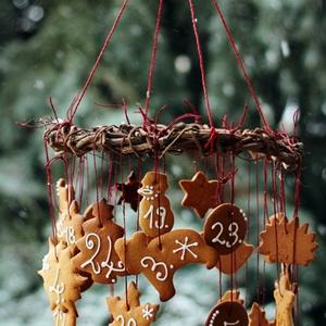 Mézeskalács adventi naptár, Otthon & Lakás, Karácsony & Mikulás, Adventi naptár, Mézeskalácssütés, Mézeskalács adventi naptár Padlásműhely stílusban díszítve... Cukormáz színe, formák választhatóak. ..., Meska