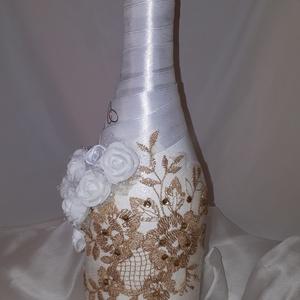 Aranyba öltöztetett pezsgő esküvőre (Csupacsodaajandek) - Meska.hu