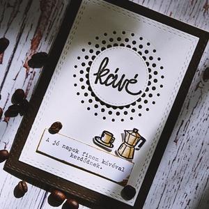 Kávés  képeslap (csutkababa) - Meska.hu