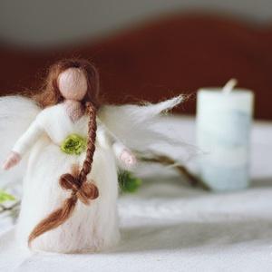 Fehér angyal (csutkababa) - Meska.hu