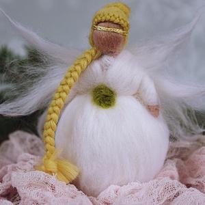 Karácsonyi angyal (csutkababa) - Meska.hu