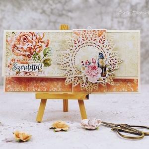 Pénzátadó boríték , Esküvő, Otthon & lakás, Naptár, képeslap, album, Képeslap, levélpapír, Papírművészet, Csodaszép díszítéssel  készült pénzátadó boríték. \nA letisztult ízléssel rendelkezőknek ajánlom.:)\n ..., Meska