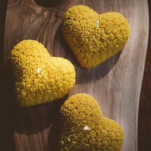 Rózsás szív, Otthon & Lakás, A méz illatát, a méhek szorgalmát , a nyári nap ☀️ melegét... és szívből jövő szeretetet ❤️ rejti ma..., Meska
