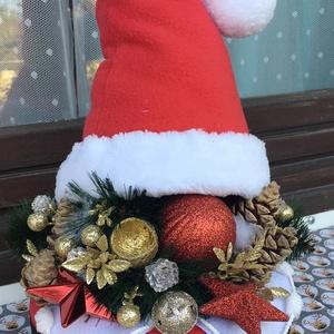 Kicsi Télapó Box, Otthon & Lakás, Karácsony & Mikulás, Mikulás, Varrás, Virágkötés, Dobozt alakítottam át karácsonyi stílusban. Télapó boxomat megtömtem minden széppel és jóval, ami a ..., Meska