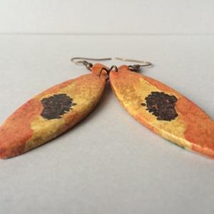 Narancssárga pillangóvirág fülbevaló (cvzs) - Meska.hu