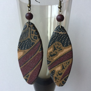 Textilbatik No.1 fülbevaló  (cvzs) - Meska.hu