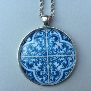 Azulejo No.4 nyaklánc, Ékszer, Medálos nyaklánc, Nyaklánc, Ékszerkészítés, Meska