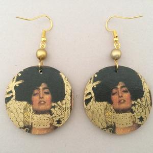 Klimt fülbevaló - Judith és Holofernes (cvzs) - Meska.hu