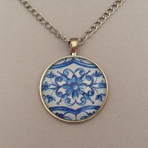 Azori azulejo No.6 nyaklánc , Ékszer, Medálos nyaklánc, Nyaklánc, Ékszerkészítés, Meska