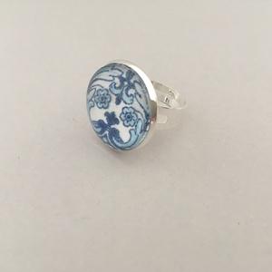 Azulejo No.1 üveglencsés gyűrű - Meska.hu