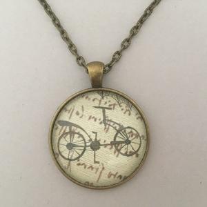 Leonardo - kerékpár No.2 nyaklánc, Ékszer, Nyaklánc, Medálos nyaklánc, Ékszerkészítés, Meska