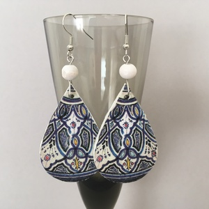 Marokkó fülbevaló - ékszer - fülbevaló - lógó csepp fülbevaló - Meska.hu