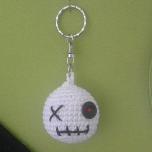 Zombi kulcstartó, Kulcstartó, Kulcstartó & Táskadísz, Táska & Tok, Horgolás, kulcstartó, kb. 4 cm, Meska