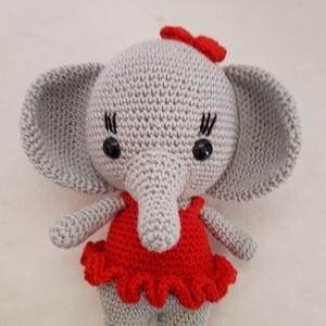 Elefánt, Elefánt, Plüssállat & Játékfigura, Játék & Gyerek, Horgolás, Horgolt elefánt, minőségi pamut fonalból készült. 16 cm hosszú. \n\nSzemélye átvétel Dányban lehetsége..., Meska