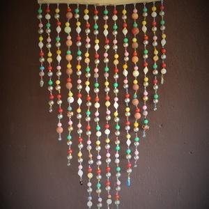 Nagy falidísz, dekoráció színes gyöngyökből , Otthon & Lakás, Dekoráció, Falra akasztható dekor, Gyöngyfűzés, gyöngyhímzés, Famegmunkálás, Kézzel készült egyedi falidísz / erkélydísz / szobadísz / kerti dekoráció / napfényfogó / függődísz ..., Meska
