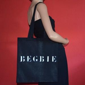 BEGBIE feliratos vászontáska, Táska & Tok, Bevásárlás & Shopper táska, Shopper, textiltáska, szatyor, Festett tárgyak, Meska