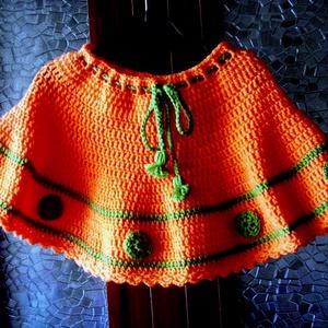 Narancsliget  pörgős szoknya   - ruha & divat - babaruha & gyerekruha - szoknya - Meska.hu