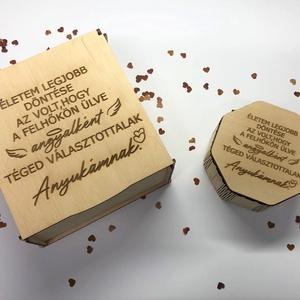 Anyák napi dobozka , Otthon & Lakás, Dekoráció, Dísztárgy, Famegmunkálás, Lepd meg édesanyádat egy szívhez szóló ajándékkal. Kis dobozunkat meg töltheted akár a kedvenc édess..., Meska