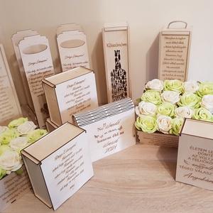 Gravírozott boros doboz, Esküvő, Emlék & Ajándék, Szülőköszöntő ajándék, Famegmunkálás, Szeretnéd megajándékozni szeretteidet, barátaidat egy egyedi ajándékkal? Ne keresgélj tovább ,személ..., Meska